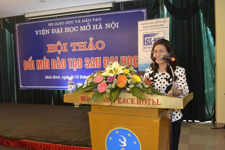 Hội thảo đổi mới đào tạo Sau Đại học tại Viện Đại học Mở Hà Nội